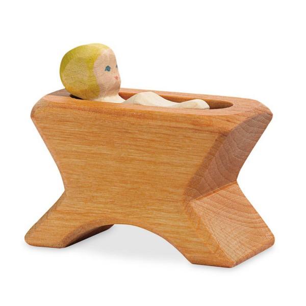 Holzfigur Krippe mit Kind