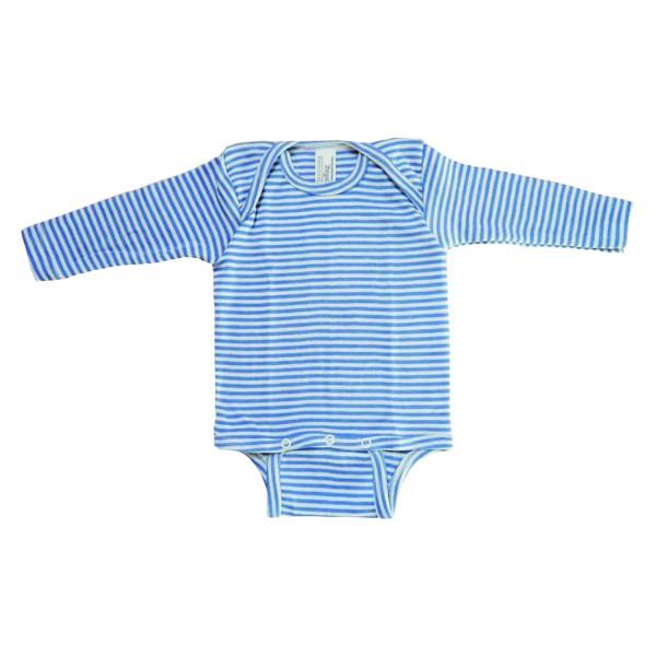 Baby Body Langarm blau/natur-gestreift
