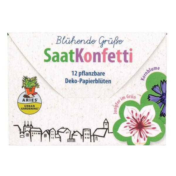 Saatkonfetti Blühende Grüße