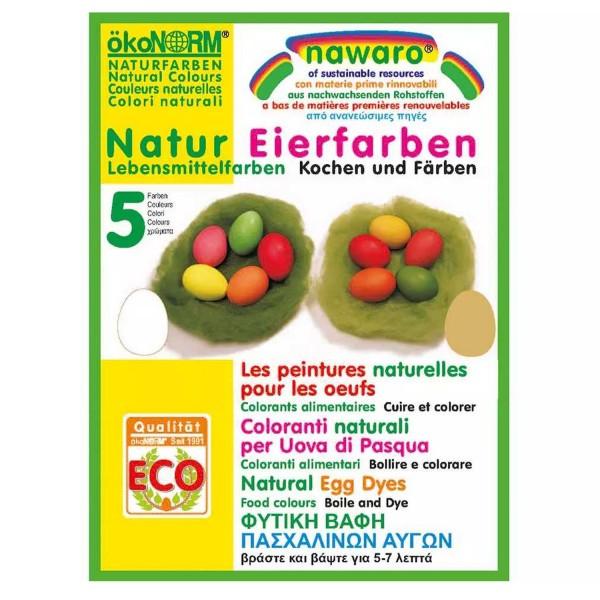 Eier-Färbefarben nawaro, 5 Farben