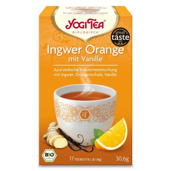 Yogi Tee Ingwer Orange mit Vanille