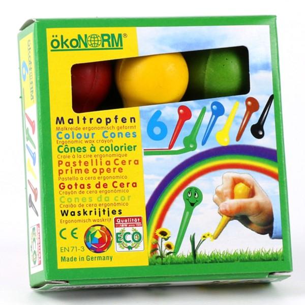 Maltropfen, 6 Farben