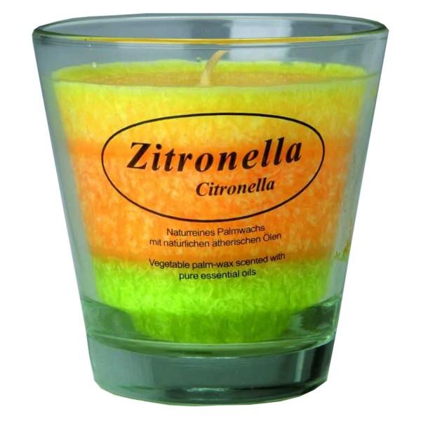 Stearinkerze Zitronella im Glas