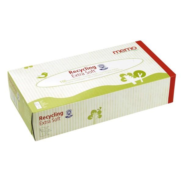 Kosmetiktücher Recycling Extra Soft 2-lagig, 100 Stk.