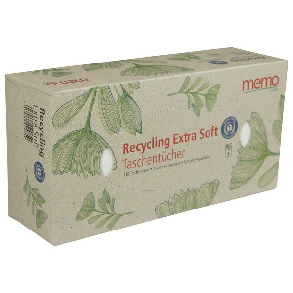 Taschentücher Recycling Extra Soft 4-lagig, 100 Stk.