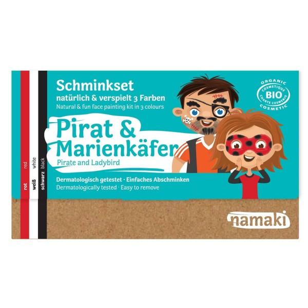 Kinder Schminkset Pirat & Marienkäfer