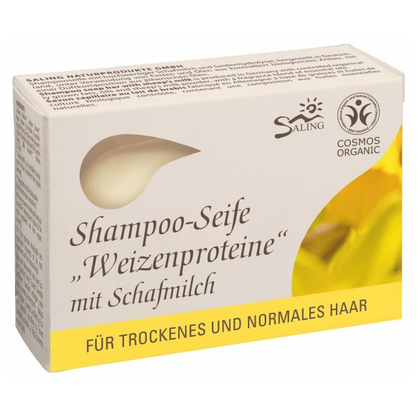 Shampoo-Seife Weizenproteine mit Schafmilch