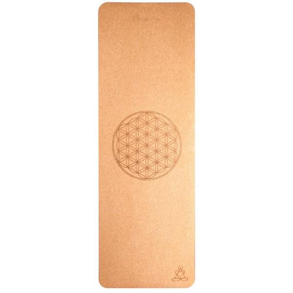 Yogamatte Kork mit Lebensblume 182x61cm