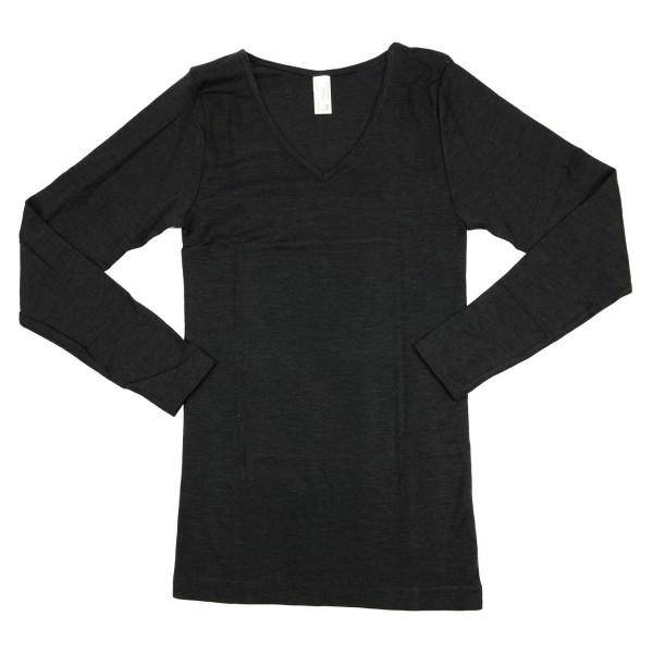 Damen Unterhemd dunkel-anthrazit