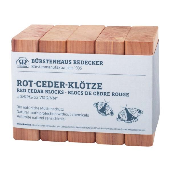 Rot-Ceder-Klötzchen, 5er Pack