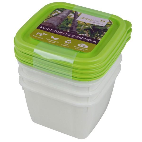 Gefrierdosen greenline 0,5 Liter, 4 Stk.
