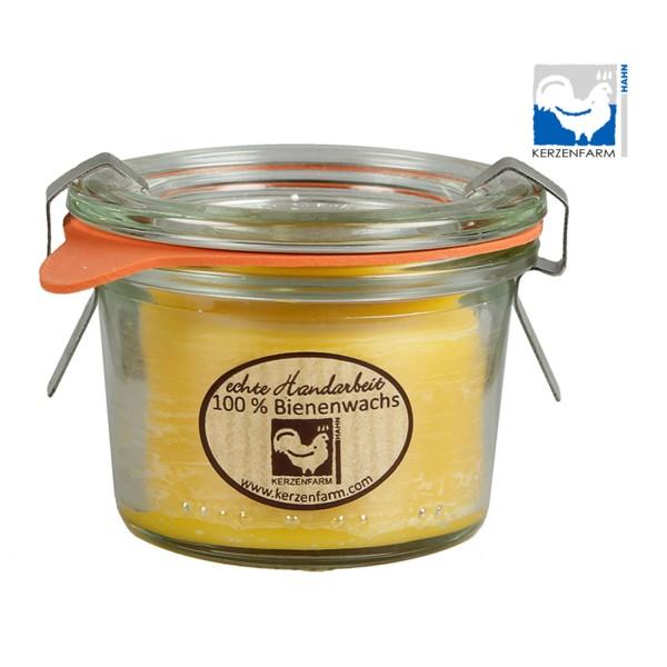 Bienenwachskerze im Weck®-Glas