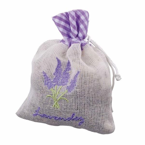 Lavendelblüten im Leinenbeutel