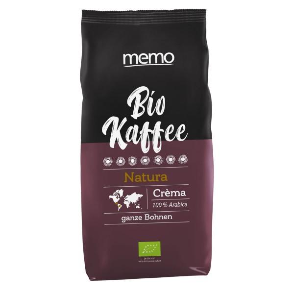 Bio Kaffee Crema Natura ganze Bohne